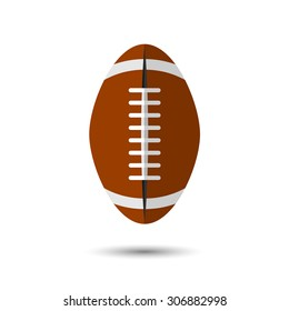 Vector flat simple football icon.  Sport illustration