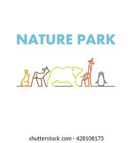 Vector flat simple minimalistic animal logo. Animal icon, animal sign, symbol isolated on white background.  Nature park, national zoo, pet shop logo, animal food store logo.