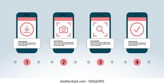 vector-flat-smartphone-infographic-260nw-764165491 Ideas For Vector Art App Download @koolgadgetz.com.info