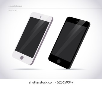 Vector flat smartphone isolated illustration. Cartoon style. Modern digital device mock up.  Good for sale banner, special offer flayer, leaflet design.