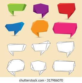 Vector Flat Speech Bubble Design for Communication