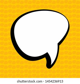 Vector flat sticker callout icon on textured background - Vector
