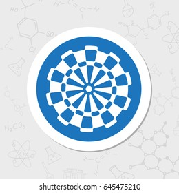 Vector flat sticker target icon on white background