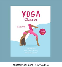 Yoga Magazine Cover Page Design Images Stock Photos
