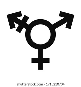 Vector flat style illustration of transsexual movement symbol icon isolated on white background