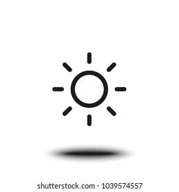 Vector flat sun icon