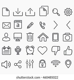 Vector flat transparent icons design set.