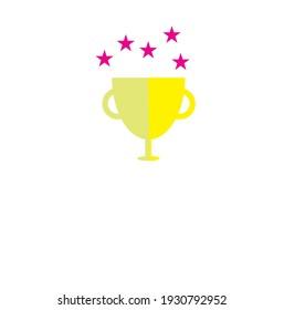 Vector flat trophy or winner logo or clipart