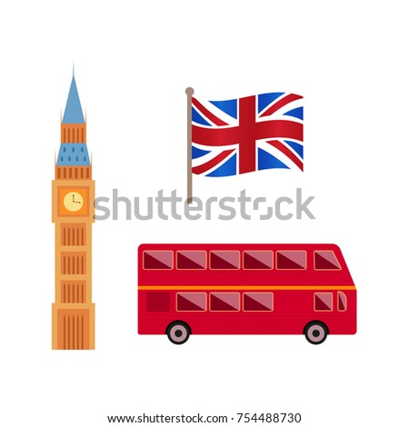 993aa95195ec6 Vector Flat United Kingdom Great Britain Stock Vector (Royalty Free ...