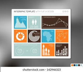 Vector flat user interface (UI) infographic template / design
