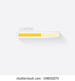 vector flat white modern trendy design progress bar / loading bar / status bar / progress icon template for app or web site