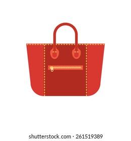 Vector flat woman's bag