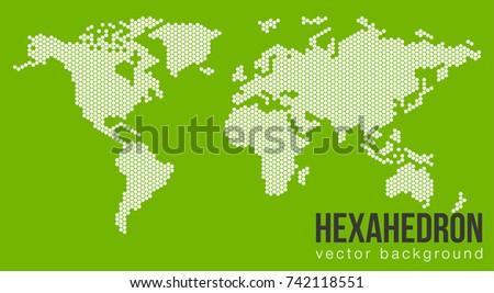 Vector Flat World Map Atlantic Ocean Stock Vector Royalty Free