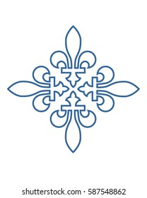Vector Fleur de lis Graphic Ornament