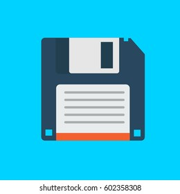 Vector Floppy Disk Illustration Flat Design