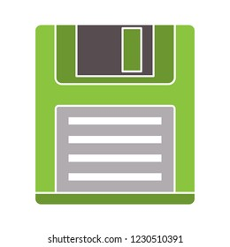 vector floppy storage disc isolated icon - information storage illustration sign . download sign symbol