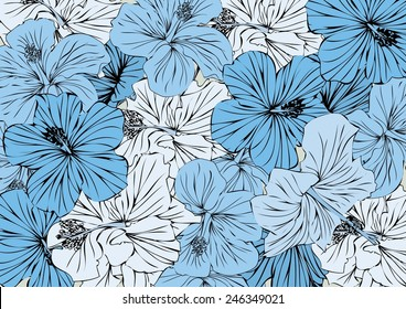 Vector floral background for design drawings and prints
