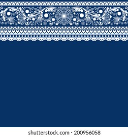 vector  floral  background with lace for design