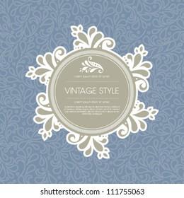 Vector floral background template illustration.