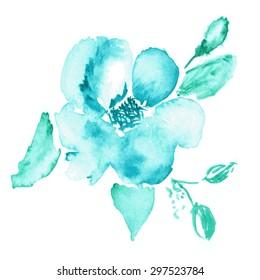 Vector floral background. Watercolor floral illustration.