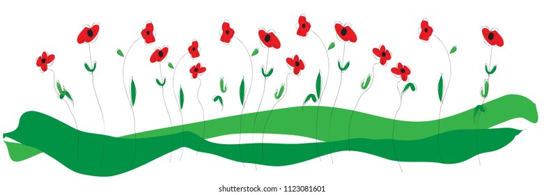 Vector floral banner background with copy space