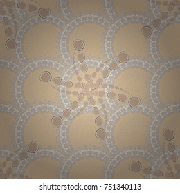 Vector floral brown, beige and gray texture pattern. Seamless pattern can be used for wallpaper, pattern fills, printing, surface textures, fabric or textile.