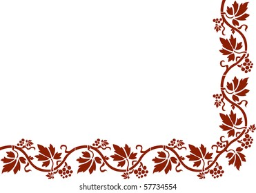 Vector floral composition. Wild grapes