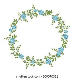 Vector floral concept of circle frame