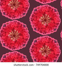 Vector Floral Dahlia Pattern