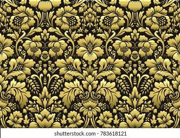 Vector floral damask pattern