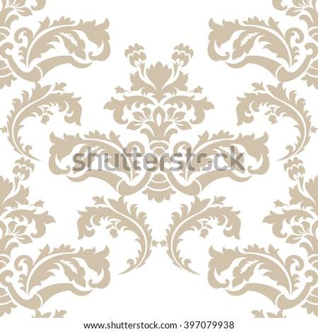 Vector Floral Damask Pattern Background Royal Stock Vector Royalty
