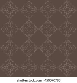 Vector Floral Damask Vintage Seamless Pattern Background. Elegant luxury texture for wallpapers, invitations, gift paper fill