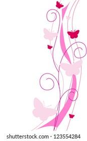 vector floral decorative design element