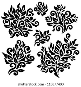 Vector floral elements