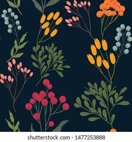 vector floral flower seamless pattern, print pattern