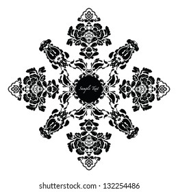 Vector Floral frame invitation card