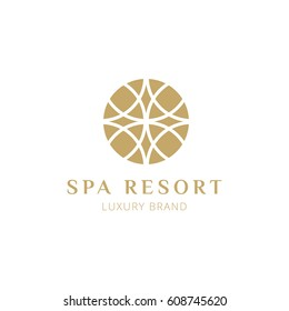 vector floral logo made for spa resort, hotel or premium boutique