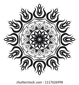 Vector, Floral, Oriental mandala. Vintage decorative elements. Vector illustration. It is super brilliant vector illustration.