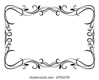 Vector floral ornamental decorative frame, not trace use it by part