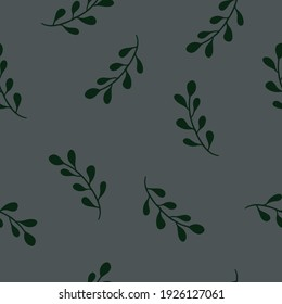 Vector floral seamless pattern with dark grey background for fabric, scrapbooking, wrapping paper