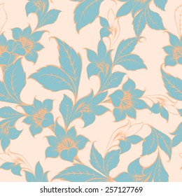 Vector floral texture pattern with flowers.Watercolor floral pattern.Seamless pattern can be used for wallpaper,pattern fills,web page background,surface textures