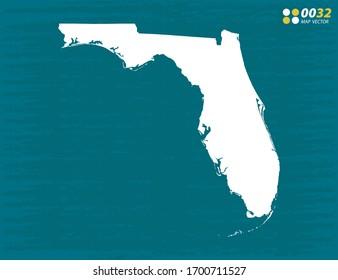 Vector of Florida map on dark background.