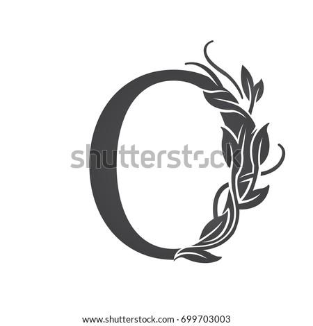 8c221e1fd57 Vector Flourish Black Letter O Logo Stock Vector (Royalty Free ...