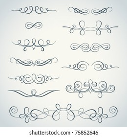 Vector flourishes collection