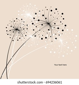 vector flower background drawn graphically
