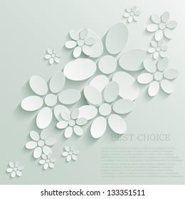 Vector flower background. Eps10