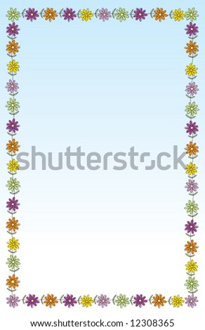 Vector Flower Border Frame Measures 55 Stock Vector Royalty Free