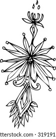 the vector of flower design