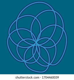 Vector flower icon, abstraction, logo.