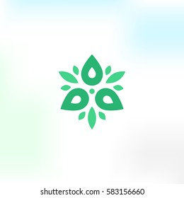 Vector Flower logo in a modern style
